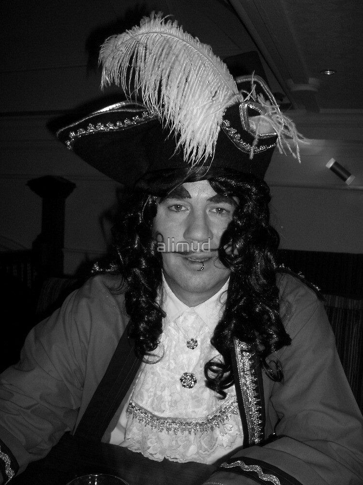 Captain Hook Black and White by alimud