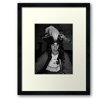 Captain Hook Black and White Framed Print