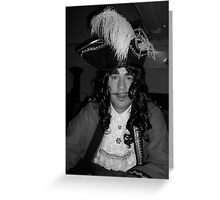 Captain Hook Black and White Greeting Card