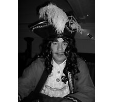 Captain Hook Black and White Photographic Print