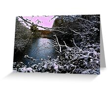 Crackled Winter Greeting Card
