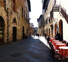 Bar Firenze, San Gimignano, Tuscany by artfulvistas