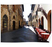 Bar Firenze, San Gimignano, Tuscany Poster