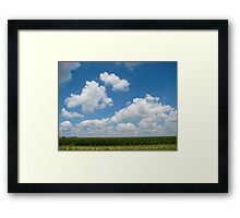 Iowa Plains Framed Print
