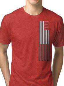 America in black and white Tri-blend T-Shirt