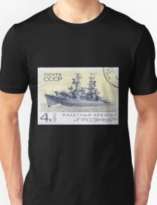 The Soviet Union 1970 CPA 3910 stamp Missile Cruiser Groznyj cancelled USSR Unisex T-Shirt