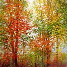 Fall trees in Virginia by Julia Lesnichy
