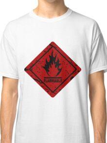 Flammable warning symbol Classic T-Shirt