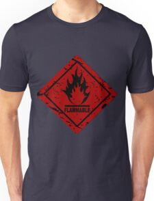 Flammable warning symbol Unisex T-Shirt