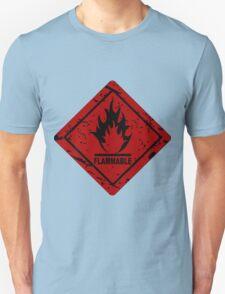 Flammable warning symbol T-Shirt