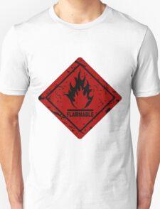 Flammable warning symbol Unisex T-Shirt