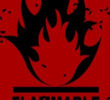 Flammable warning symbol Sticker