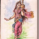Vishnu in mohini roop by kallaln