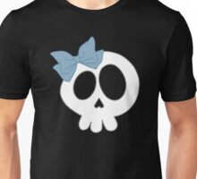 Bow Skull Blue Unisex T-Shirt