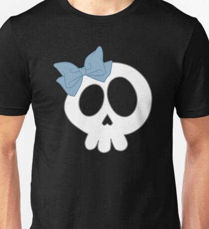 Bow Skull Blue Unisex T-Shirt