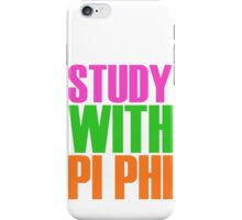 Study with Pi Phi iPhone Case/Skin