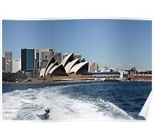 Opera House Harbour View Poster