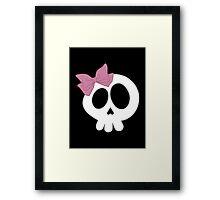 Bow Skull Pink Framed Print