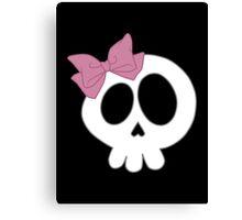 Bow Skull Pink Canvas Print