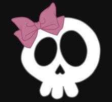 Bow Skull Pink Baby Tee