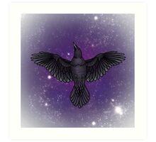 Cosmic Corvids Art Print