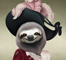 Aristocratic Lady Sloth by jesga