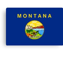 State Flags of the United States of America -  Montana Canvas Print