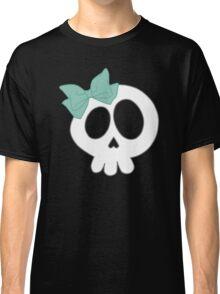 Bow Skull Teal Classic T-Shirt