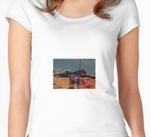 walking down the hill Women's Fitted Scoop T-Shirt