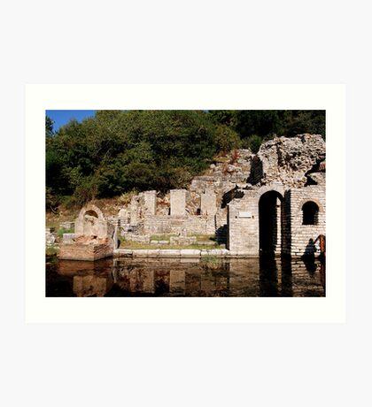 Roman Baths, Butrint, Albania Art Print