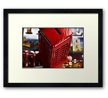 AMAZING LONDON - Telephone - UK - I missed London so much today! Framed Print