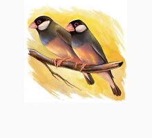 Java Sparrow finches realistic painting Unisex T-Shirt