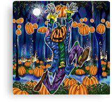 """Jolly Jack In Fumpkin Porest"" Canvas Print"