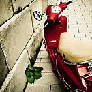 Red motorcycle europe style by Denis Charbonnier