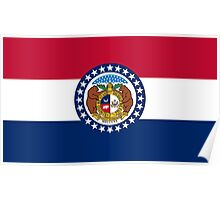 State Flags of the United States of America -  Missouri Poster
