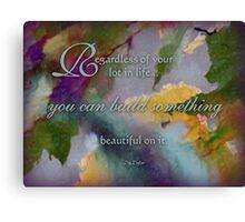 regardless - wisdom saying no.11 Canvas Print