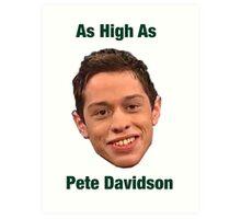 Pete Davidson-- High Art Print