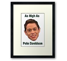 Pete Davidson-- High Framed Print