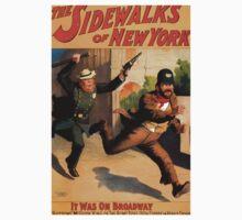 Poster 1890s The sidewalks of New York Broadway poster 1896 Kids Tee