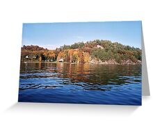 The Cavalcade of Colours in the Muskoka Lakes Greeting Card
