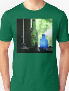 Old Bottles in an Artist's Studio Window Unisex T-Shirt