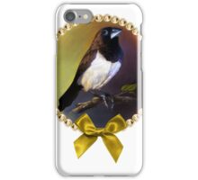 Javan munia realistic painting iPhone Case/Skin