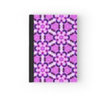 Pattern 514 - Black and Purple Floral Hardcover Journal