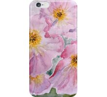 Delicate pink poppies iPhone Case/Skin