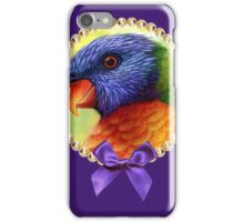 Rainbow lorikeet realistic painting iPhone Case/Skin