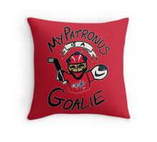 My Patronus is a Goalie (WSH Edition) Throw Pillow