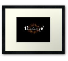 Dracarys - Game Of Thrones Framed Print