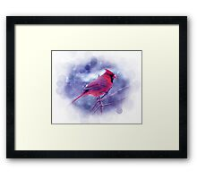 Red Cardinal in the Snow Framed Print