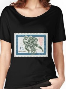 The Soviet Union 1970 CPA 3875 stamp 3869 Overprinted Soviet hockey players as the tenfold world champions USSR Women's Relaxed Fit T-Shirt