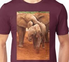Affectionate Playmates: Baby Elephants Unisex T-Shirt